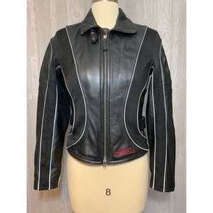 Harley-Davidson Black Leather Jacket Size XS